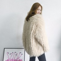JKP brand winter women's coat furry sheepskin fur coat natural real fur warm women's coat hot buy discount new outdoor fashion