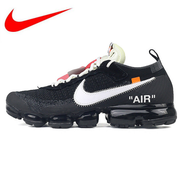 check out e1222 e60f0 Original Nike X OFF-WHITE AIR VAPORMAX OFW Men s Running Shoes Sneakers,  Black and White Color AA3831