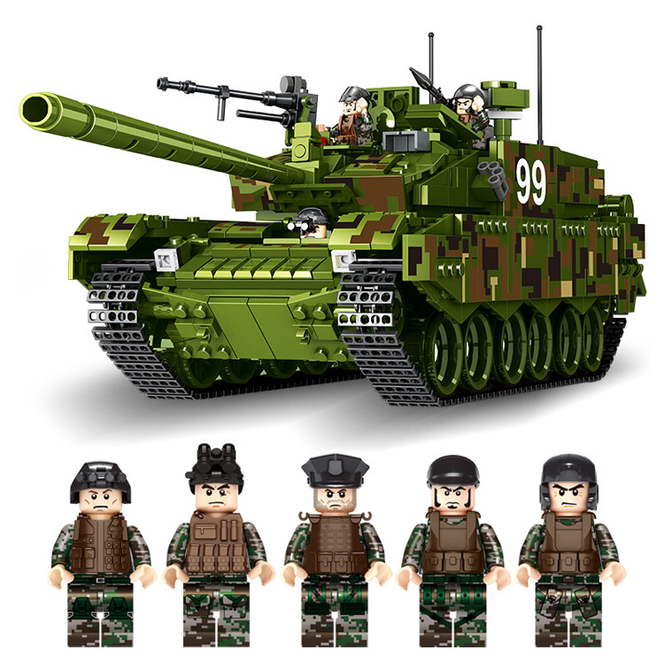 632002 1339pcs Tank World Military War Weapon Type 99 Tank Building Blocks Sets Models Educational Toys lepin 06015 enlighten military educational building blocks toys for children gifts army cars assassin sniper gun world war hero weapon