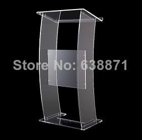 Free Shiping High Quality Modern Design Lucency Acrylic Lectern/Podium