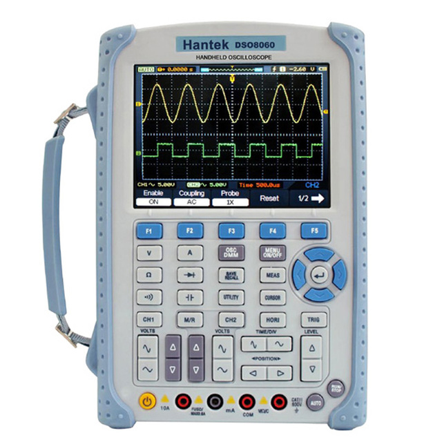 Hantek DSO8060 Oscilloscope Handheld Portable Digital Multimeter Oscilloscope USB LCD 60MHz 2 Channels DMM Spectrum Analyzer