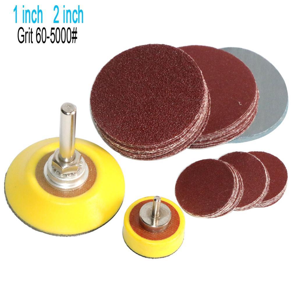 100pc 75mm Sanding Discs Mixed Pad Hook /& Loop 80-3000 Grits Orbital Hook Loop