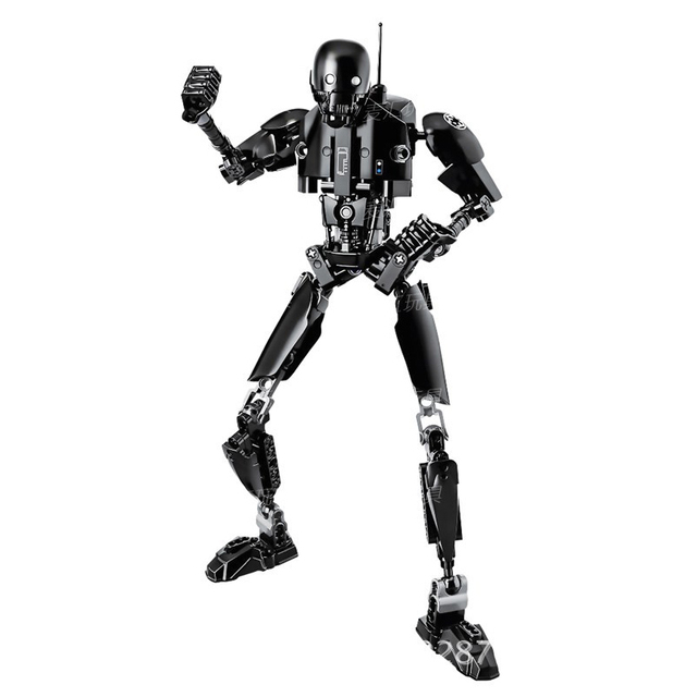 Star Wars Buildable Figure Stormtrooper Darth Vader Kylo Ren Chewbacca Boba Jango Fett General Grievou Action Figure Toy For Kid 4