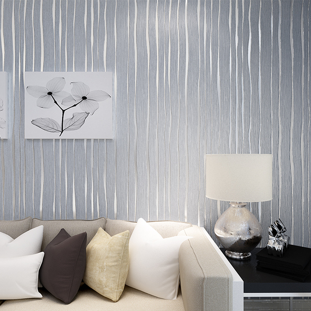 Günstige Solide Einfache Moderne Mode Vertikale Streifen Rosa Grau Tapete  3d Stoff Wohnzimmer Schlafzimmer TV Hintergrund