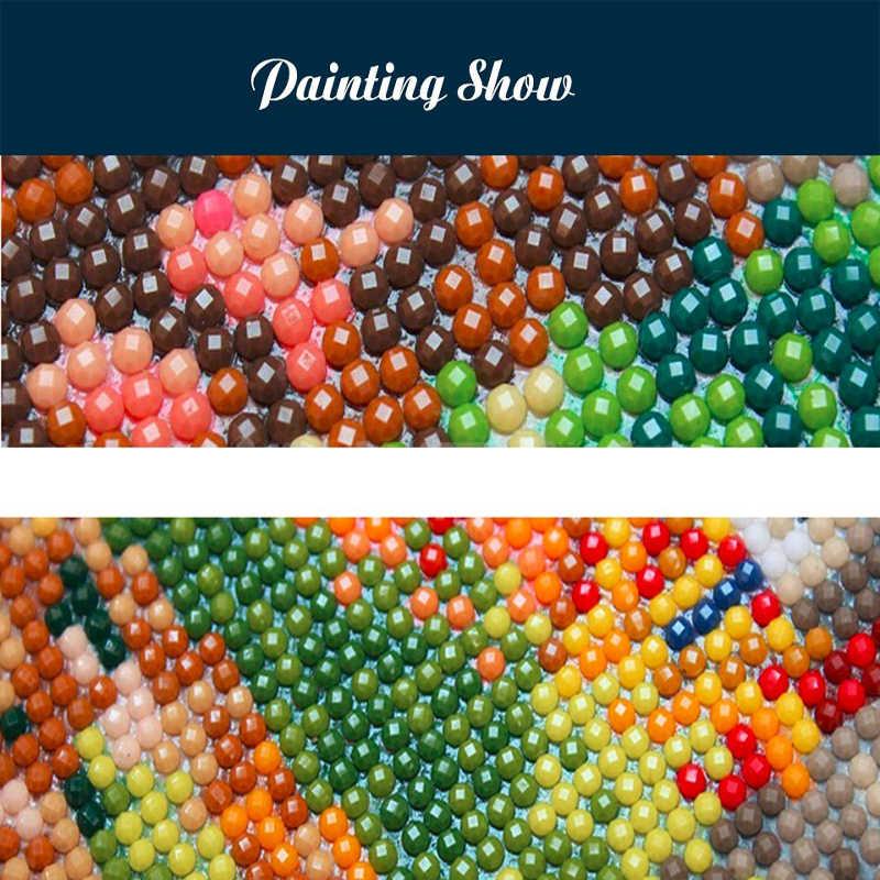 3D 5d diy יהלומי ציור spuare & עגול צלב תפר דפוס מנוע בודהה פסיפס שרף מלא תרגיל בית תפאורה DIY ציור