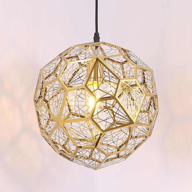 Creative Diamond Ball Stainless Steel Pendant Lamp Modern LED Deco Lighting Pendant Light For Restaurant Bar Coffee Shop Bedroom