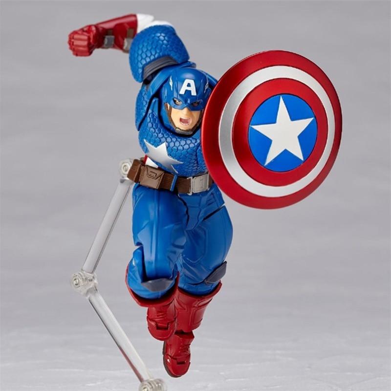 Revoltech Amazing Red Venom Carnage Amazing Captain America Spiderman Magneto Wolverine X-men Action Figures Toy Doll (5)