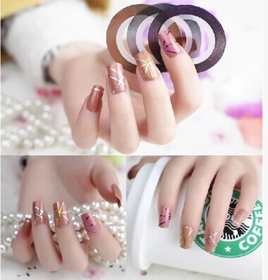 1pc Nail stickers Nail decorations Nail DIY jewelry gold and silver jewelry in combination with adhesive nail
