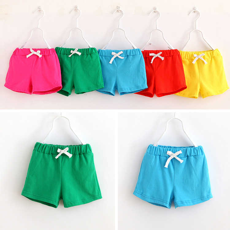 V-TREE HOT SALE summer kids cotton shorts boys girls shorts cotton candy clothing brand shorts baby clothing