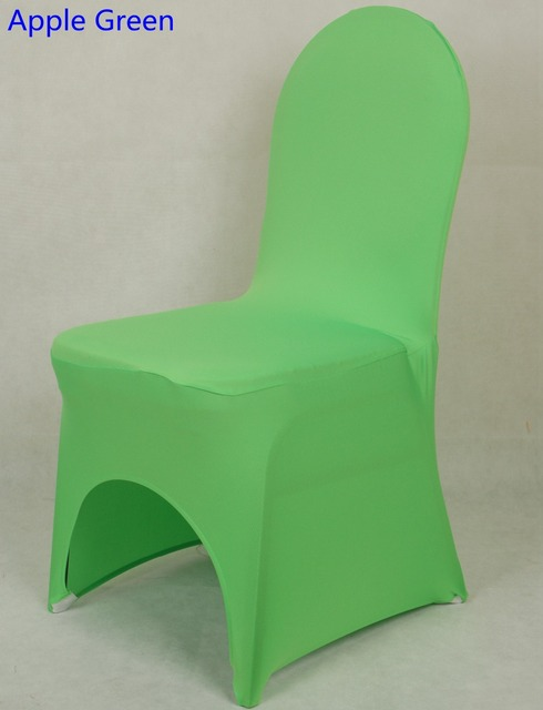 Chair Cover Apple Green Colour Lycra Spandex Stretch Banquet Universal Chair  Cover For Wedding Decoration Wholesale