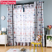 high quality cartoon car printed blackout curtains for kids bedroom boys girls baby room curtains ready