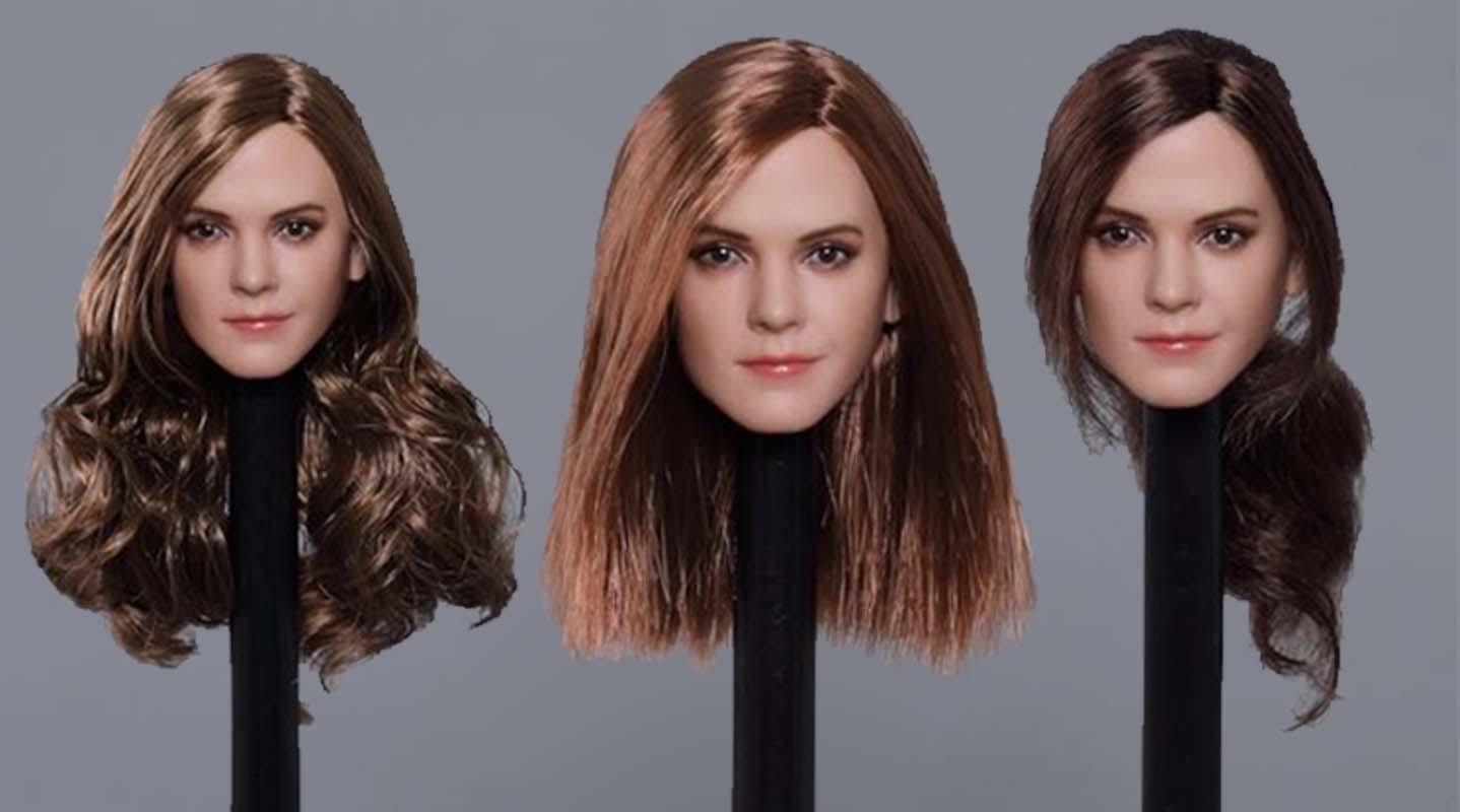 1//6 Female Head Polaris Emma Sculpt Carved Model PVC Toy F PH No Doll DIY Part