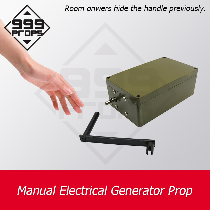 999PROPS Manual Electrical Generator Prop Real Life Room Escape Rotate The Generator To Light On Bulb Or Open Lock Chamber Game