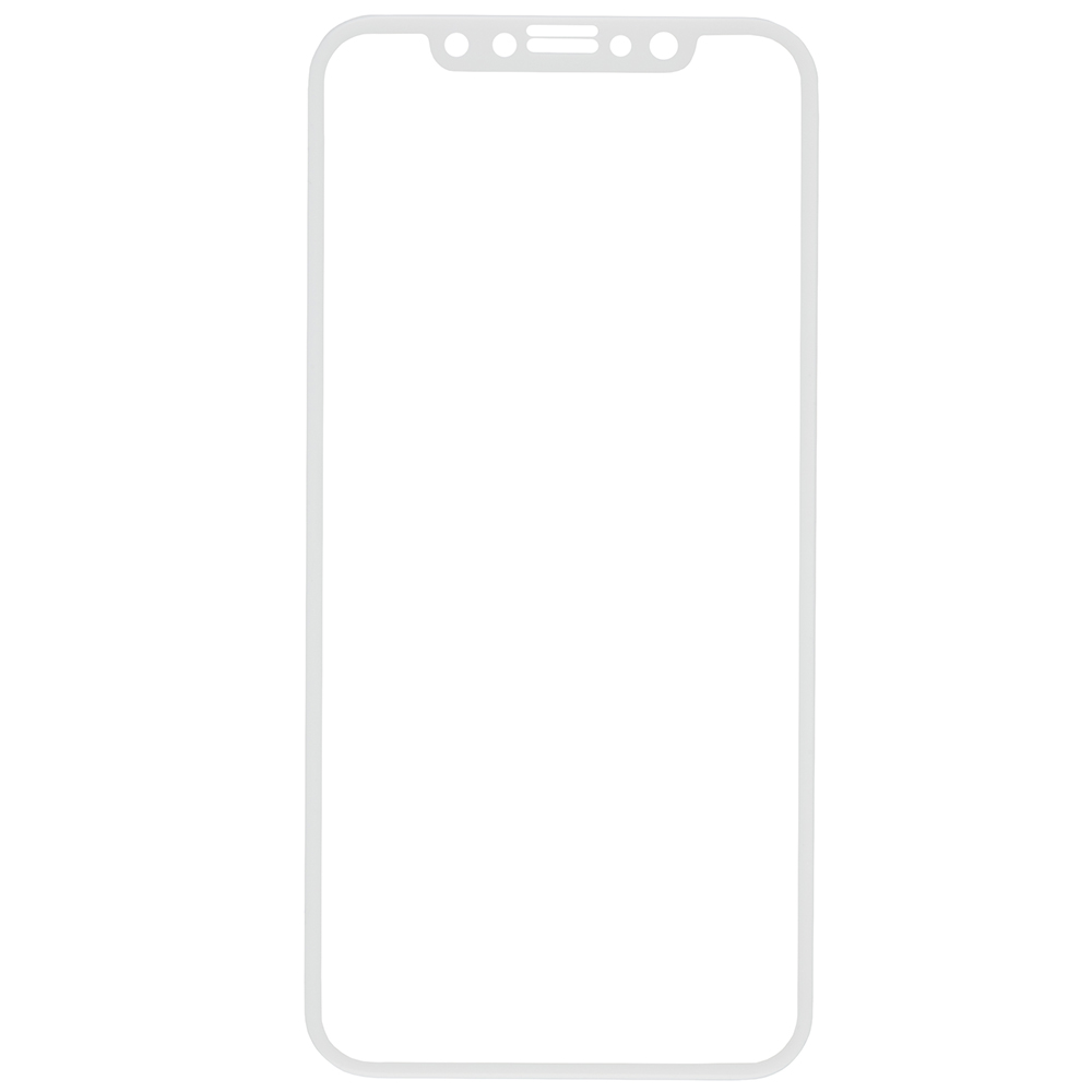 Protective glass Red Line for iPhone X Full Screen (3D) white