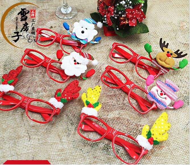 6 unids bolsa navidad decoraci n gafas ni os sun gafas - Decoracion de navidad para ninos ...