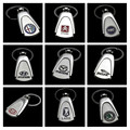 Gift Box ! 40 Brands Water Drop Keychain For Auto With Logo Keyring Vehicle Key Chain Ring Key Rope KEYFOB CNYOWO