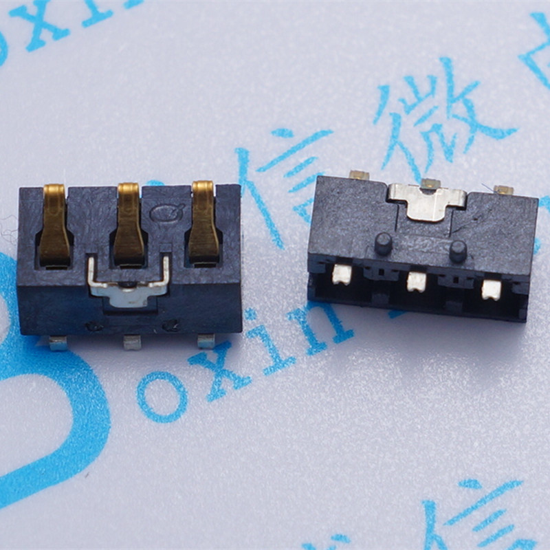50PCS 3.0 pitch 3PIN battery holder 4.6 height snap battery holder with positioning post