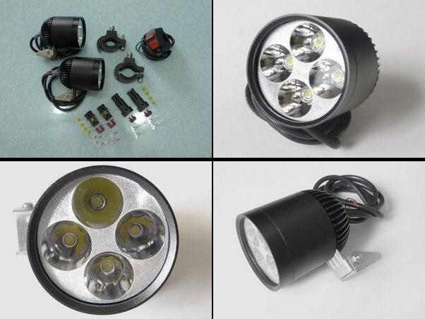 LDDCZENGHUITEC 40w 4400lm 4*u2 cree chip waterproof Led round motorcycle led headlight motorcycle spotlights