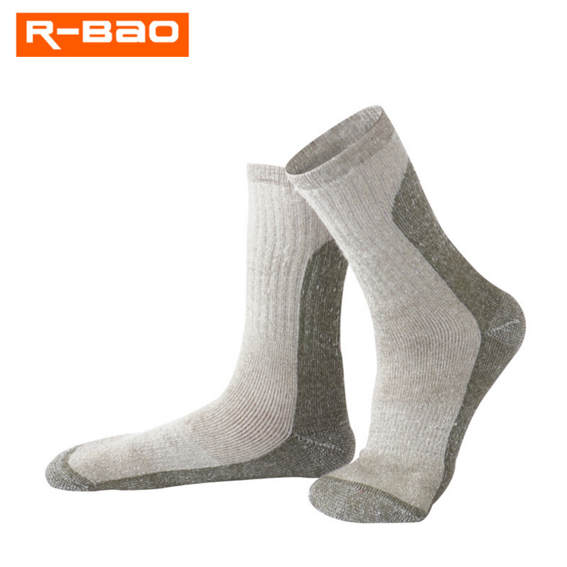 R-BAO Merino wool socks outdoor hiking socks high quality winter skiing hiking socks Thickened breathable calcetines men women