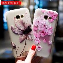 BROEYOUE Case For Samsung Galaxy S7 Edge S8 S9 Plus 3D Relief TPU Case For Samsung J3 J5 J7 J5 Prime A3 A5 A7 A8 2016 2017 2018 цена