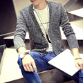 Autumn outfit new v-neck sweater cultivate one's morality leisure sweater