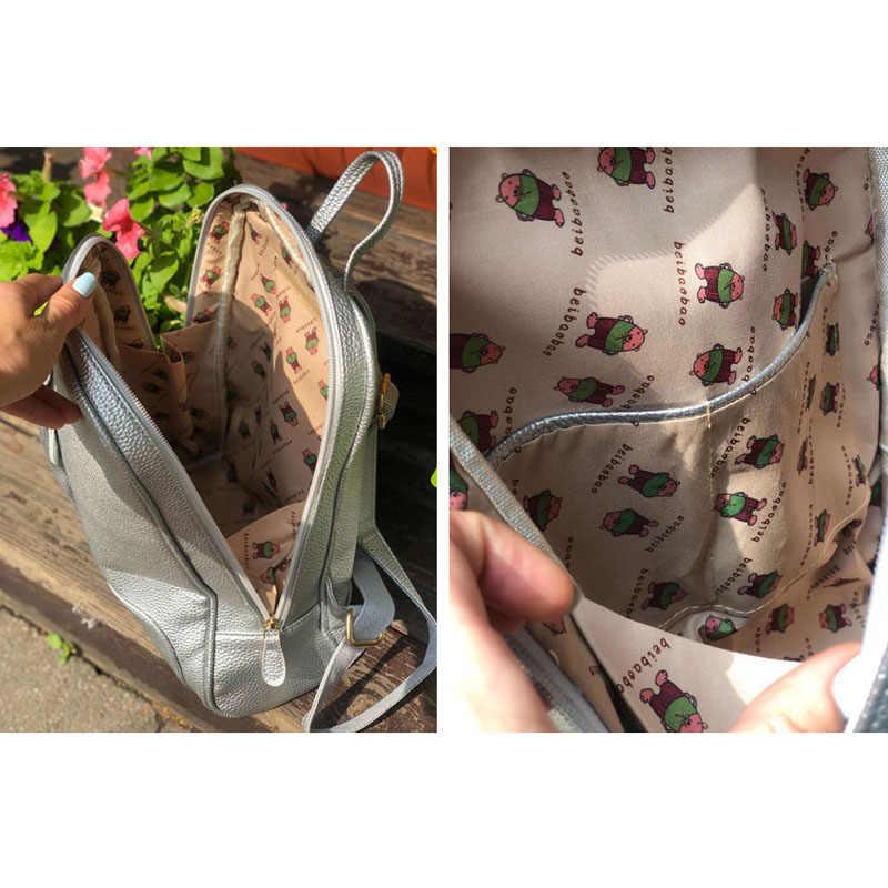Beibaobao 2019 новый для женщин Рюкзаки Высокое качество модные повседневные Рюкзаки школьные ранцы для обувь девочек Сумка для учащихся Mochilas Mujer