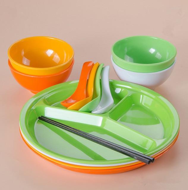 (Dishes u0026 Plates Melamine Tableware set cup spoon chopsticks Bowl Multicolor plate  sc 1 st  AliExpress.com & Dishes u0026 Plates Melamine Tableware set cup spoon chopsticks Bowl ...