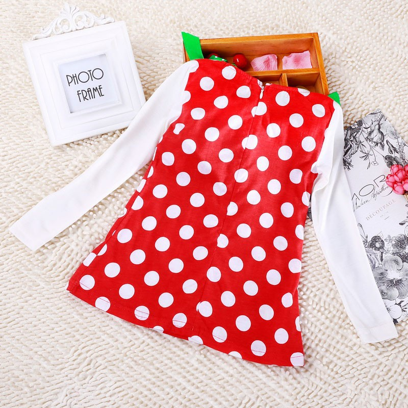HTB1T4IleNsIL1JjSZFqq6AeCpXag New Year Baby Girl Christmas Dress Girl's Merry Christmas Dress Children Kids Cotton Dot Dress Girls Tutu Santa Clus Costume