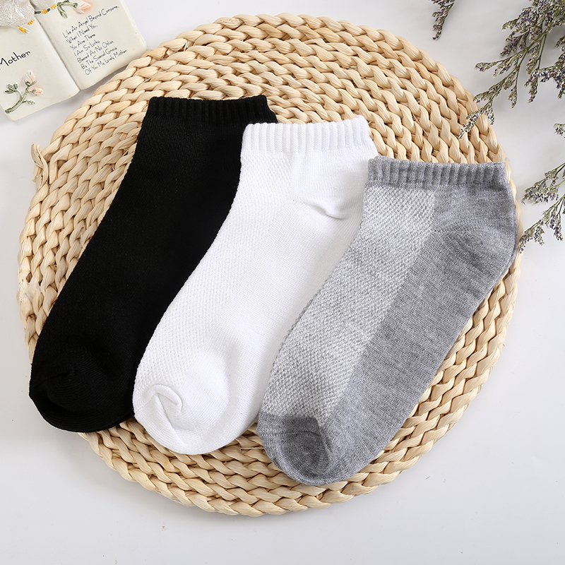 5 Pairs/ Lot Plus Size Black White Colors Men's Sock Quality Casual Summer Breathable Fitted Mesh Socks Gifts For Men Meias