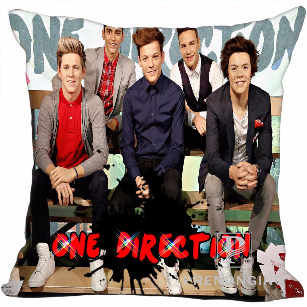 Custom Pillowcase Cover 1D One Direction @01 Square Zipper Pillow Cover Print Your Pictures 20x20cm,35x35cm(one side) 180117#75