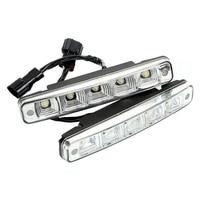 Car Styling Auto Fog Lamp 2pcs DC 12V LED Daytime Running Lights Driving Light Super Bright