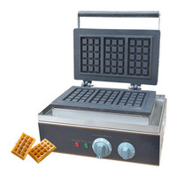 BEIJAMEI Snake Equipment commercial square waffle machine stainless steel electric waffle making with 3 waffles per time
