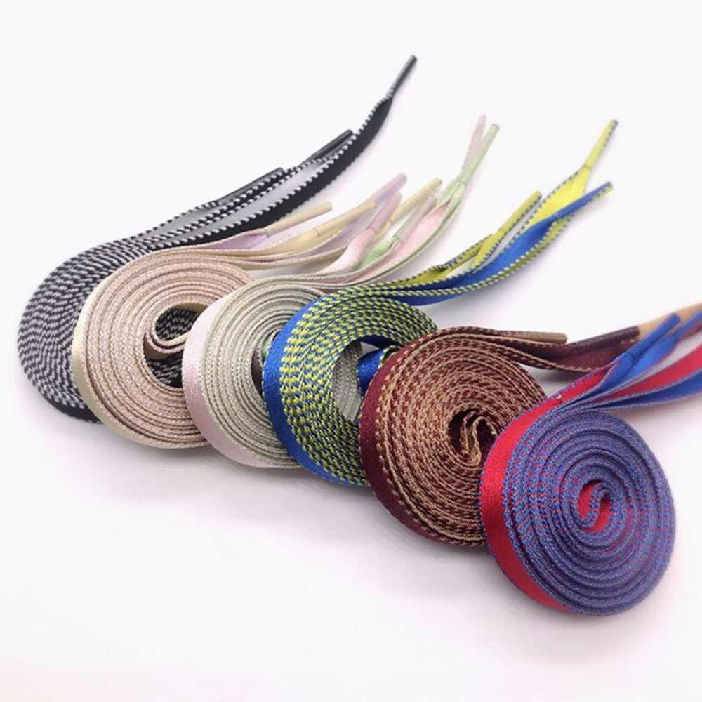 258379f03b Two-Tone Reversible Shoelaces Double Sided Silk Shoelaces Flat Laces Dual  Color Shoe Strings 60 70 80 90 100 110 120 130cm