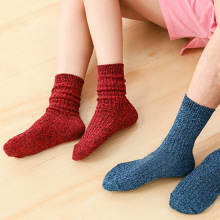 цена Hot New ladies pile socks cotton Japanese tube socks autumn and winter wild color socks college wind Shiny Glitter Needles Knitt