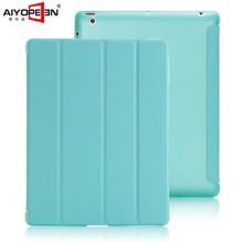aiyopeen for ipad 2 3 4 case,4-fold pu leather with tpu back soft protect smart wake up sleep new color and good quality