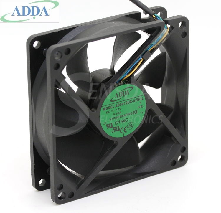 ADDA 92*92*25MM AD0912UX-A7BGL 9225 9CM large air flow chassis CPU cooling fan мини пила status cp90u
