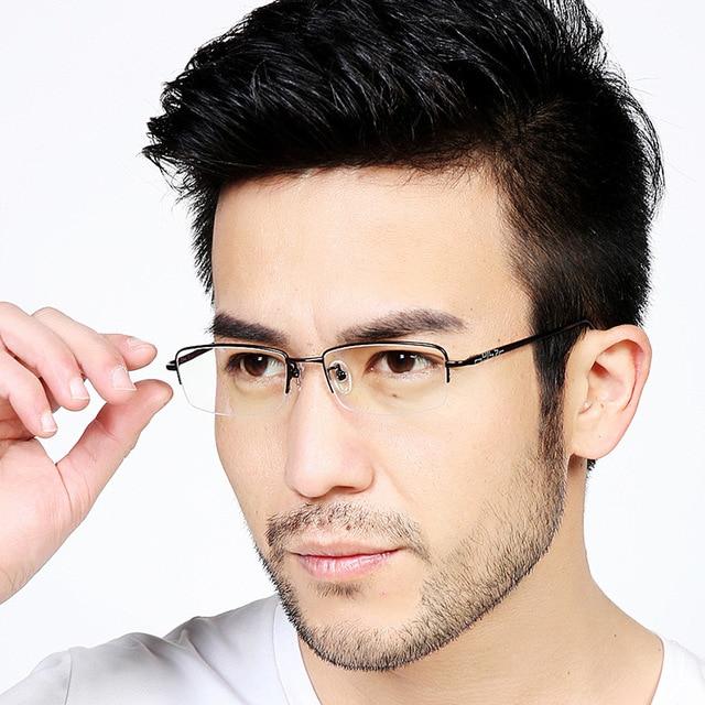 c3d24a226c1 2016 new high-grade Men Semi Rimless Glasses 100% Pure Titanium Ultra Light  8g REANDING Eyeglasses half Frames free shipping