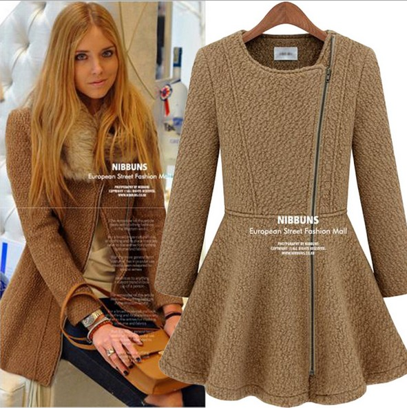 2014 New designer trench coats women sexy winter coats,wool coat ...