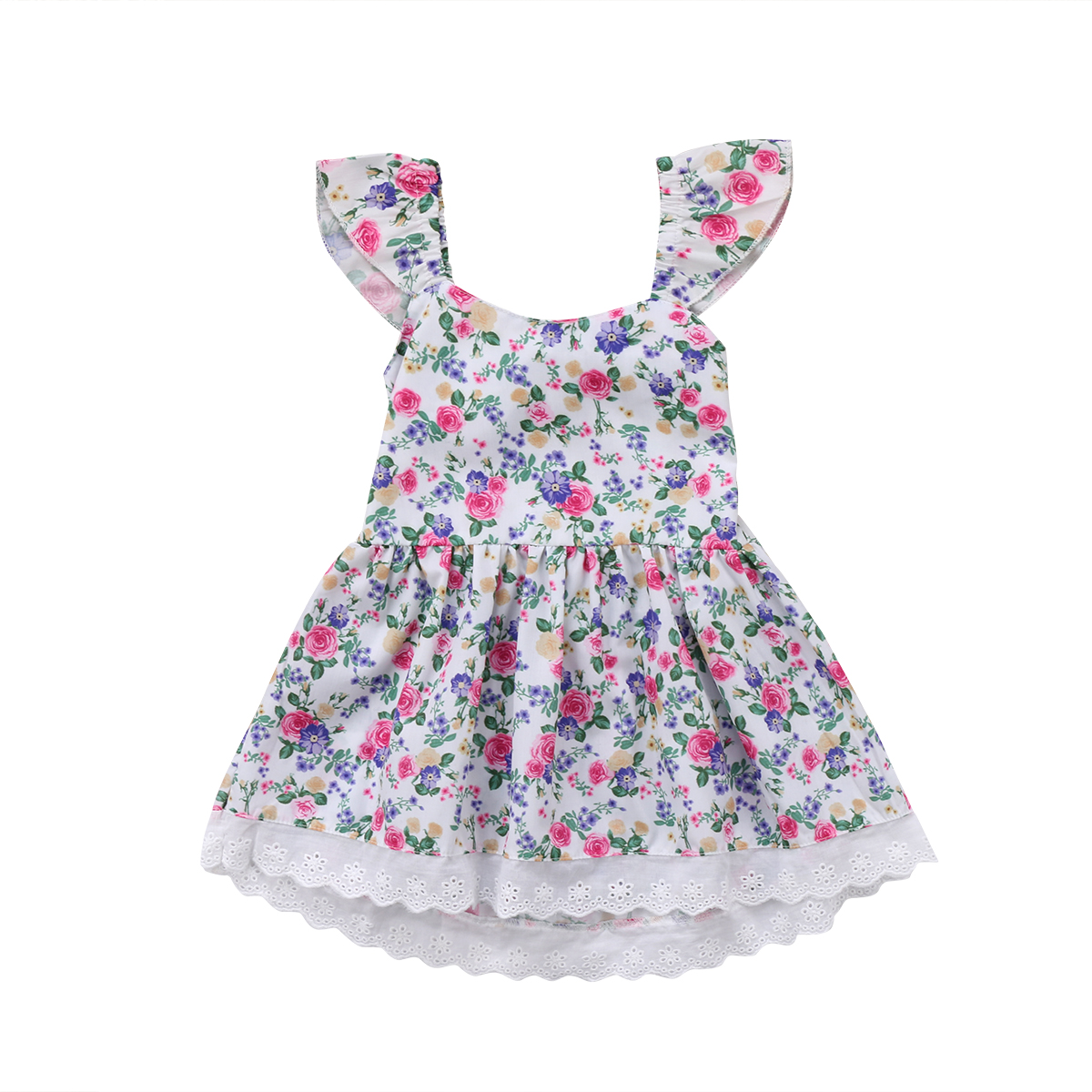 Flower Princess Dress Girl Kids Baby Party Wedding Pageant Floral Casual Dresses Children Enfant Girls Print Flower Sundress платье для девочек party dresses for girls baby 2 11 casual girl dress