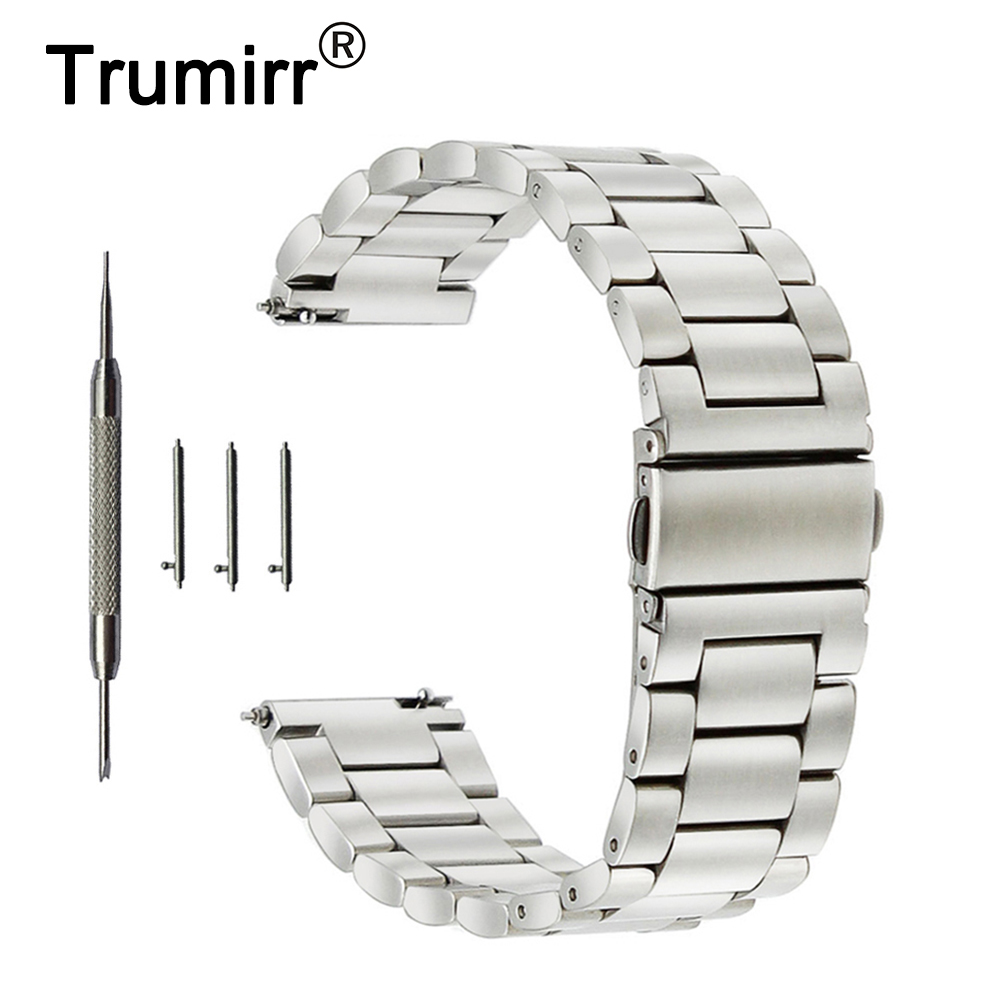 18mm 20mm 22mm Stainless Steel Watch Band +Tool for Hamilton Watchband Quick Release Strap Wrist Belt Bracelet Black Gold Silver 16 18 20 22 mm silver black gold rose gold ultra thin mesh milanese loop stainless steel bracelet wrist watch band strap belt
