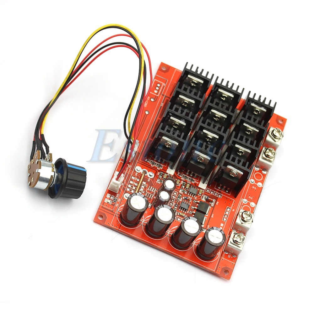 DC 10-50V 60A Motor Speed Control PWM HHO RC Controller 12V 24V 48V 3000W MAX freeshipping