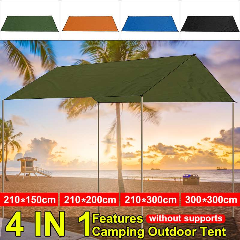 Waterproof Tent Shade Beach Sun Shelter Tarp Ultralight UV Garden Awning Canopy Sunshade Outdoor Camping Hammock Rain Fly