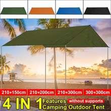 Водонепроницаемый тент для пляжа, солнцезащитный козырек, брезент, ультралегкий, УФ, садовый тент, навес, солнцезащитный козырек, для кемпинга, гамак, дождь, муха