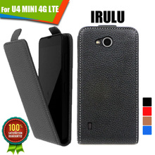 Newest For IRULU U4 MINI 4G LTE WholeSale Customed 100% Special Luxury PU Leather Flip Case cover,free gift(China (Mainland))