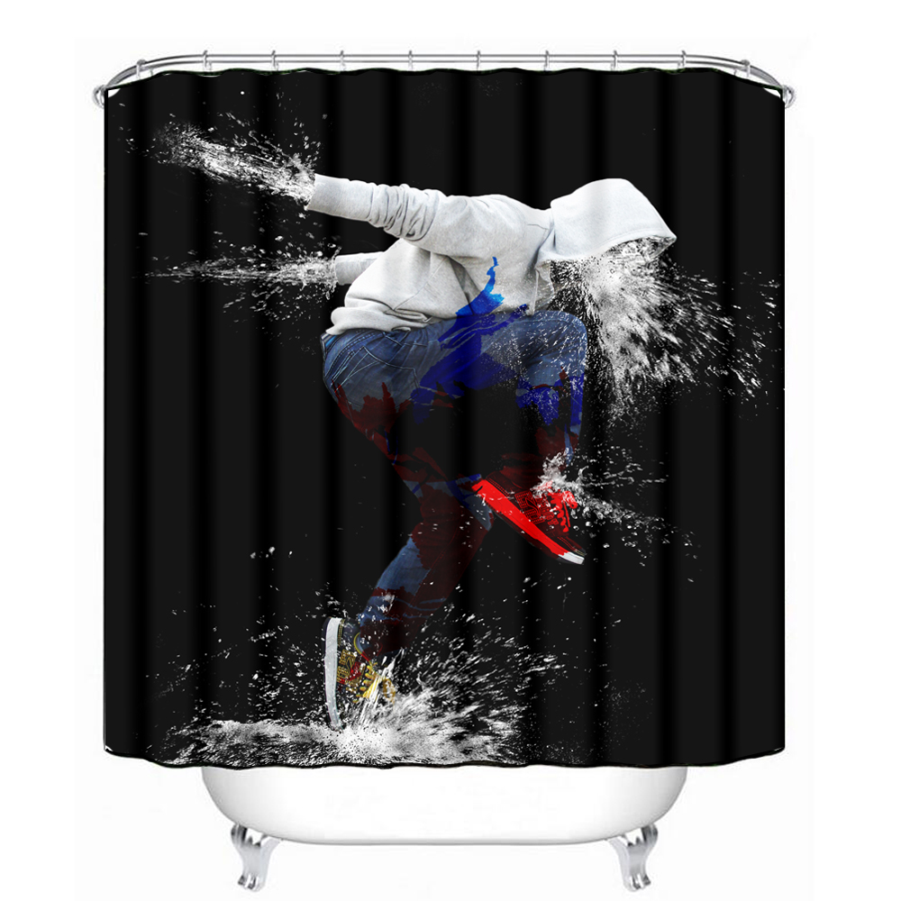 Marvel shower curtain - Unique Sport Shoe Design Shower Curtain With Waterproof Coating China Mainland