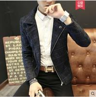 M XXXL 2019 men's new youth Slim Korean casual jacket men's fashion lattice coat plus size men's clothing