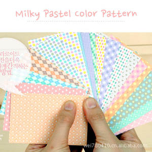 New Arrival 2019 Polaroid Milky Pastel Color Pattern Photo Diary  Sticker 20 Pcs A Set S261