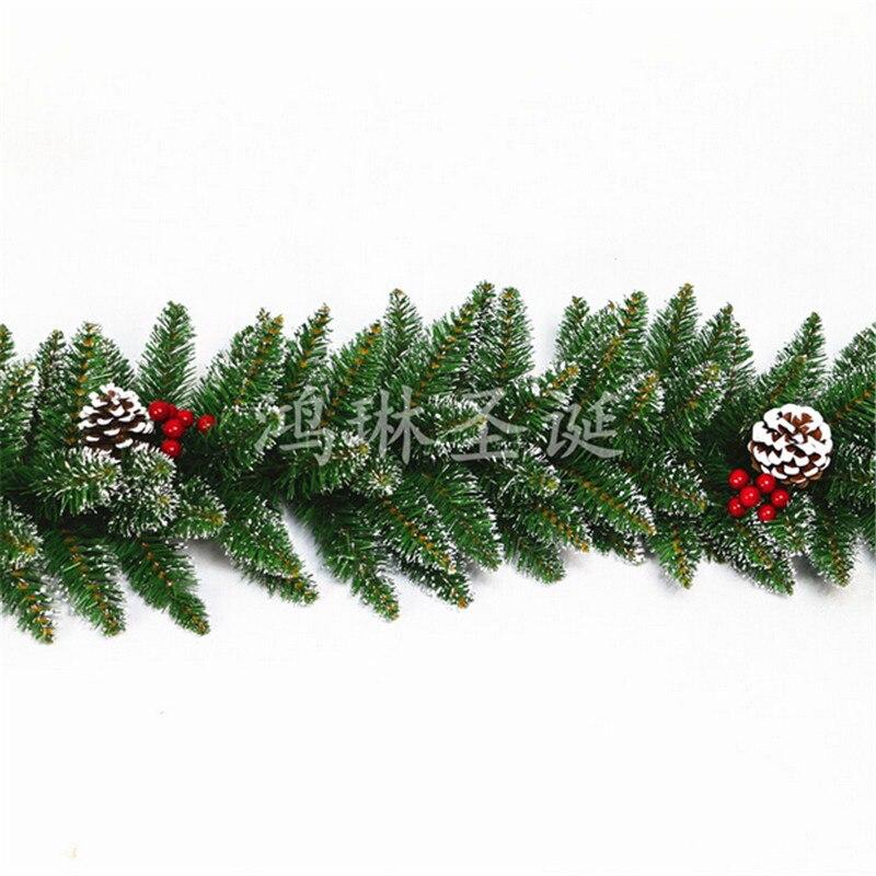 simple navidad de mimbre grueso agujas navidad guirnalda cm para diy pino ratn casa tienda de la puerta ventana adornos decoracin en navidad de casa y jardn - Guirnalda Navidad