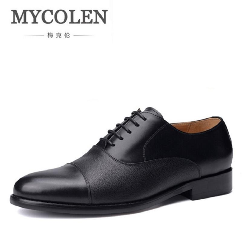 MYCOLEN European Men Dress Shoes Brogue Oxford Luxury Italian Leather Man Shoes Luxury Brand Formal Male Office Shoes цены онлайн