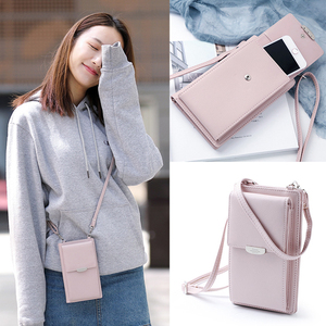 Image 5 - TOKOHANSUN Universal Casual Bag Multilayer Mobile Phone Case Wallet Card cell phone shoulder strap wallet For iPhone For Huawei